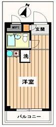 東京都八王子市明神町1丁目の賃貸アパートの間取り