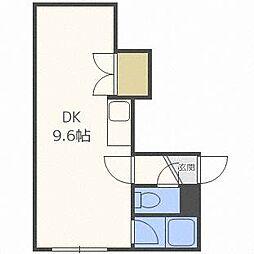 パルコート平岸411[3階]の間取り