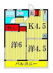 ハイツ松浦[1階]の間取り