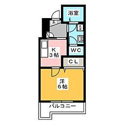 エスポワール古川[4階]の間取り