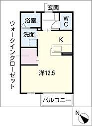 フィールス B棟[1階]の間取り