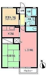 レジデンスS[2階]の間取り