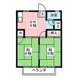 ソーブルA棟[2階]の間取り