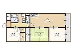エスタリーハイムトキワ[2階]の間取り