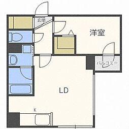 Dolce Fushimi  (ドルチェ伏見) 3階1LDKの間取り