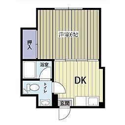 第二ジュネス倉田[4階]の間取り