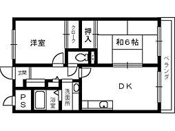 CASAOKUNO[4階]の間取り