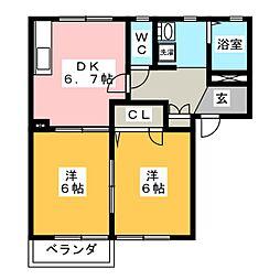 エスポワール A[2階]の間取り