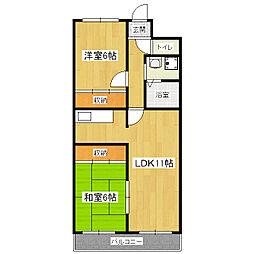 ラ・ヨード21[5階]の間取り