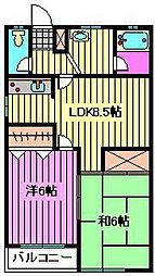 ドミール秋山[103号室]の間取り