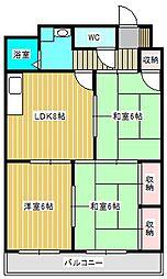 ワンズコア新松戸II[3階]の間取り