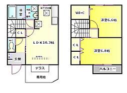 [タウンハウス] 兵庫県神戸市垂水区霞ケ丘2丁目 の賃貸【/】の間取り