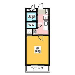 ラフィネ四ツ谷[4階]の間取り