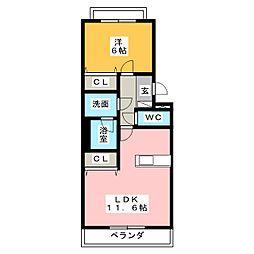 Vita Centro[3階]の間取り
