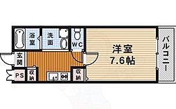 阪急今津線 宝塚駅 徒歩5分の賃貸アパート 2階1Kの間取り