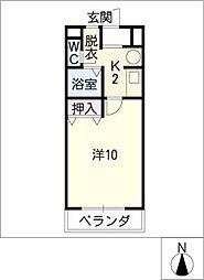 CASA HATSUHI[2階]の間取り
