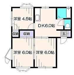 グローリィAOKI D棟[2階]の間取り