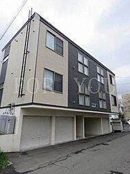 北海道札幌市白石区菊水六条2丁目の賃貸アパートの外観