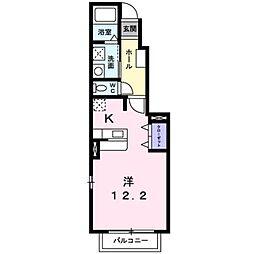 JR豊肥本線 光の森駅 3.9kmの賃貸アパート 1階1Kの間取り