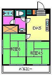 埼玉県川口市坂下町3丁目の賃貸マンションの間取り