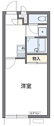 神奈川県横浜市鶴見区小野町の賃貸アパートの間取り