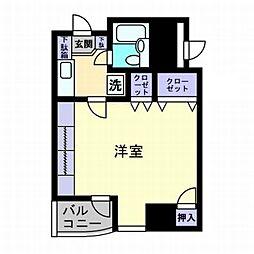 アーバン錦町[3階]の間取り