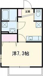 クオーレ薬円台[102号室号室]の間取り