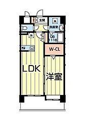 熊本電気鉄道 北熊本駅 徒歩5分の賃貸マンション 7階1LDKの間取り