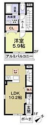 [テラスハウス] 神奈川県藤沢市大鋸 の賃貸【/】の間取り