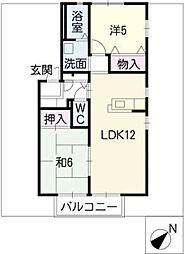 ステラサカエB棟[2階]の間取り