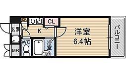 エステムコート新大阪 3階1Kの間取り