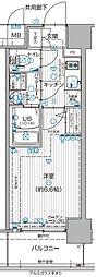 JR大阪環状線 福島駅 徒歩7分の賃貸マンション 7階1Kの間取り