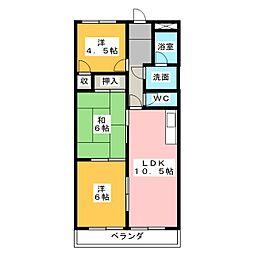 ステーションヒルズ93[2階]の間取り