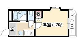 愛知県名古屋市緑区鳴海町字古鳴海の賃貸マンションの間取り