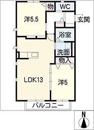 A・Y・U W棟[2階]の間取り