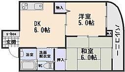カルチェ石丸[3階]の間取り