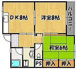 兵庫県明石市西明石東町の賃貸マンションの間取り