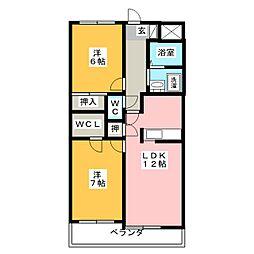 ヒルズ小幡[1階]の間取り