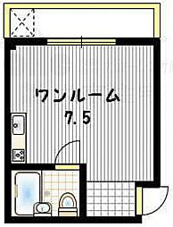 大阪府八尾市渋川町4丁目の賃貸アパートの間取り