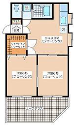 トピア新代田[102号室]の間取り