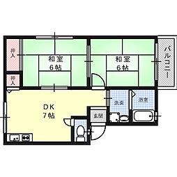 ウィンディア別所[2階]の間取り