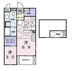 インテックス・クリオネ[2階]の間取り