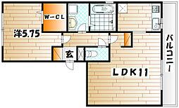 プレジャ−ライフYUZU[3階]の間取り