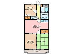 ドミール上野[2階]の間取り