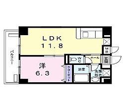 ツリーガーデン松嶋[5階]の間取り