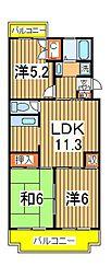 ドミール増尾台[108号室]の間取り