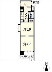 シティアーク熱田[3階]の間取り