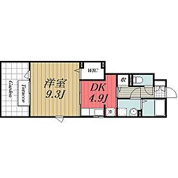 京成本線 京成佐倉駅 徒歩3分の賃貸アパート 1階1DKの間取り