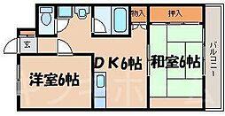 広島県安芸郡海田町中店の賃貸マンションの間取り
