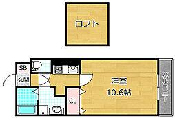 レジデンスナンワ香里園 A棟[3階]の間取り